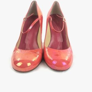 Kate Spade Coral Patent Leather Mary Jane Heels 9